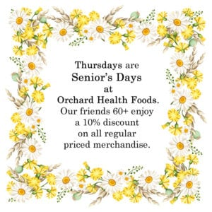 Thursdays are Seiors Days